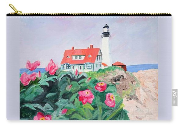 Roses At Portland Headlight Carry-all Pouch