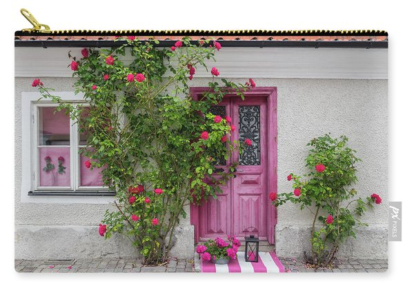 Roses Decorating The House Entrance Carry-all Pouch
