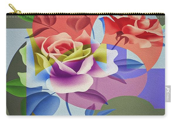 Carry-all Pouch featuring the digital art Roses For Her by Eleni Mac Synodinos