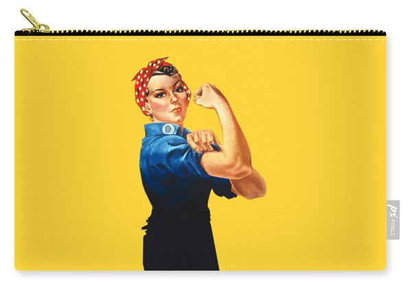 Rosie The Riveter Retro Style Carry-all Pouch