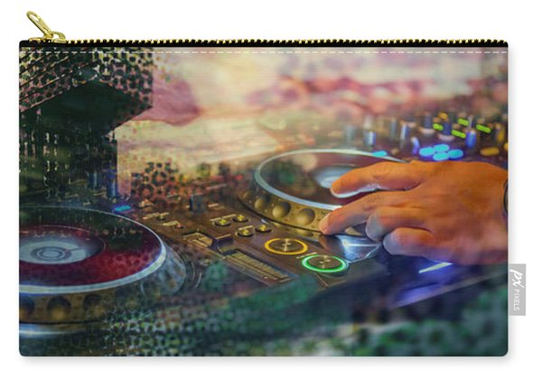 Carry-all Pouch featuring the digital art Rotterdam And Dj Music by Ariadna De Raadt