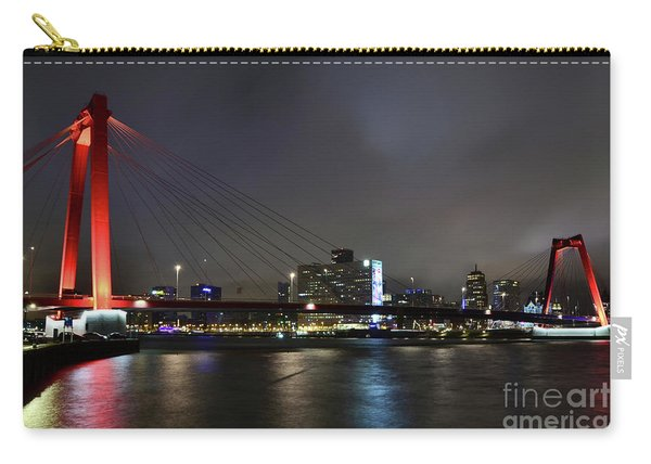 Rotterdam - Willemsbrug At Night Carry-all Pouch
