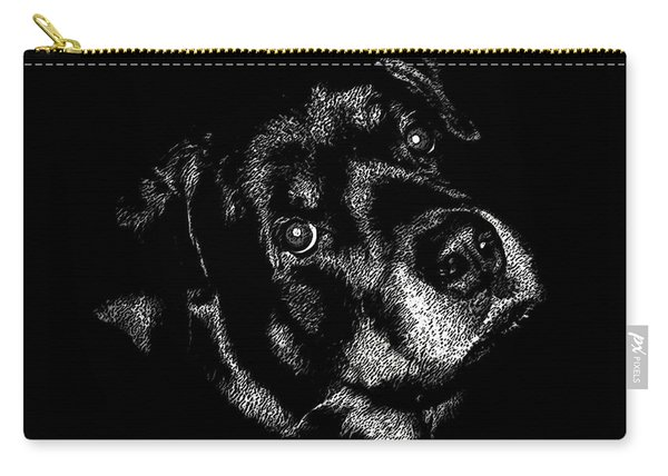 Rottweiler Mozart Portrait Carry-all Pouch
