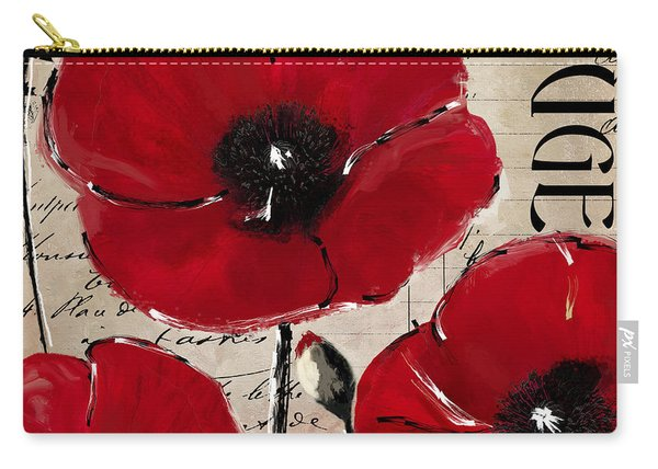 Rouge I Poppy Carry-all Pouch