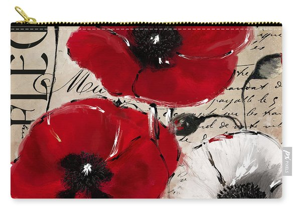 Rouge II Poppies Carry-all Pouch