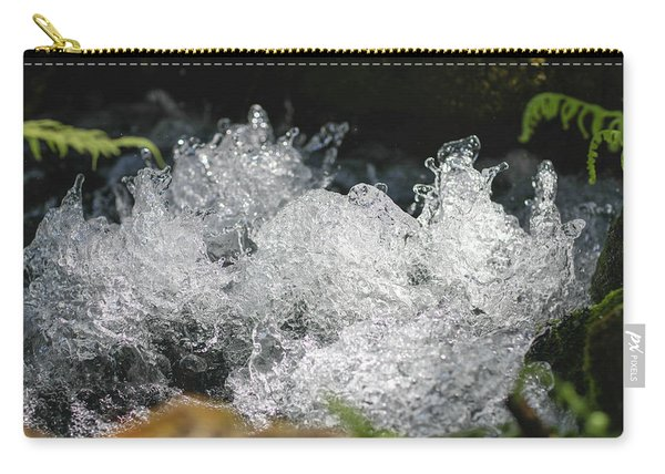 Carry-all Pouch featuring the photograph Rough Water Splash by Raphael Lopez