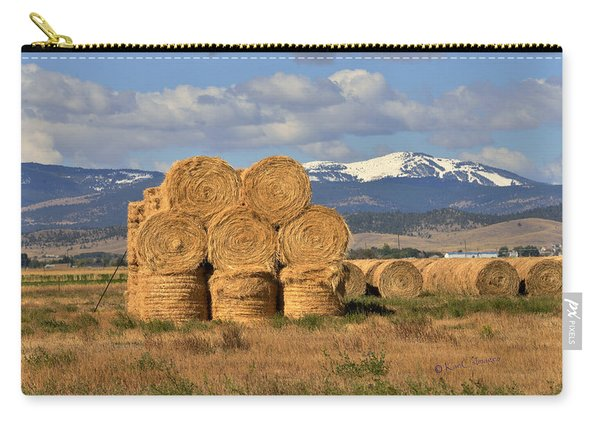 Round Hay Bales And Mountain Carry-all Pouch