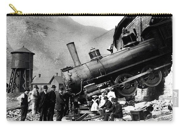 Roundhouse Locomotive Crash - Minturn - 1913 Carry-all Pouch