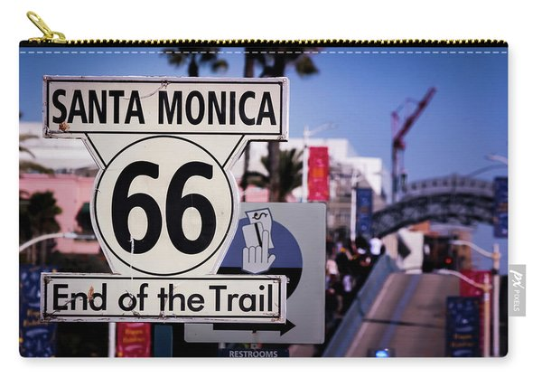Route 66 End Of Trail Carry-all Pouch