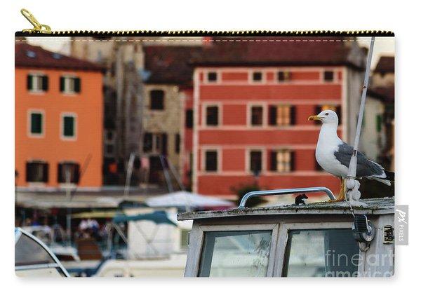Rovinj Harbor Seagull - Rovinj, Istria, Croatia Carry-all Pouch