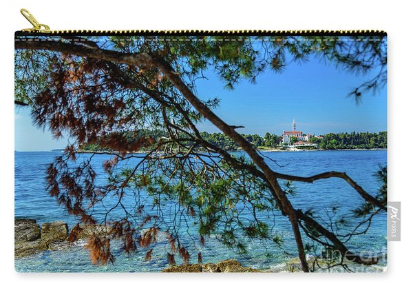 Rovinj Old Town Accross The Adriatic Through The Trees Carry-all Pouch