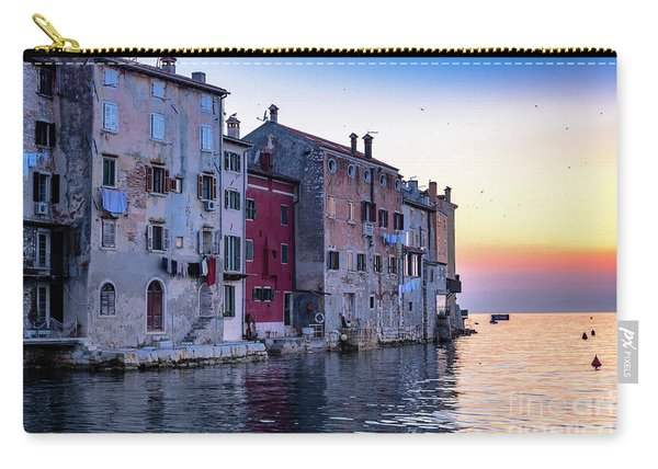 Rovinj Old Town On The Adriatic At Sunset Carry-all Pouch