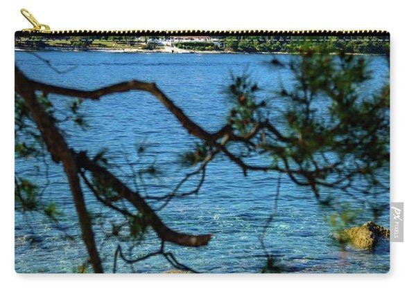 Rovinj Seaside Through The Adriatic Trees, Istria, Croatia Carry-all Pouch