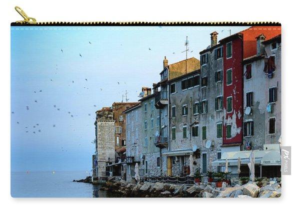 Rovinj Venetian Buildings And Adriatic Sea, Istria, Croatia Carry-all Pouch