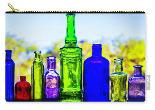 Row Of Colored Bottles Carry-all Pouch