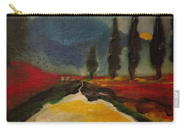 Row Of Cypress Carry-all Pouch