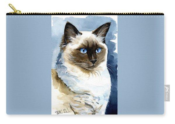 Roxy - Ragdoll Cat Portrait Carry-all Pouch
