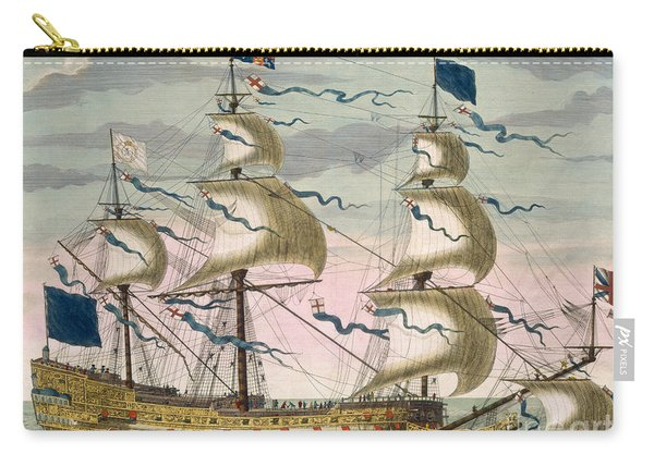 Royal Flagship Of The English Fleet Carry-all Pouch