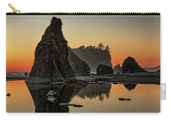 Ruby Beach At Sunset Carry-all Pouch