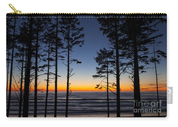 Ruby Beach Trees #4 Carry-all Pouch
