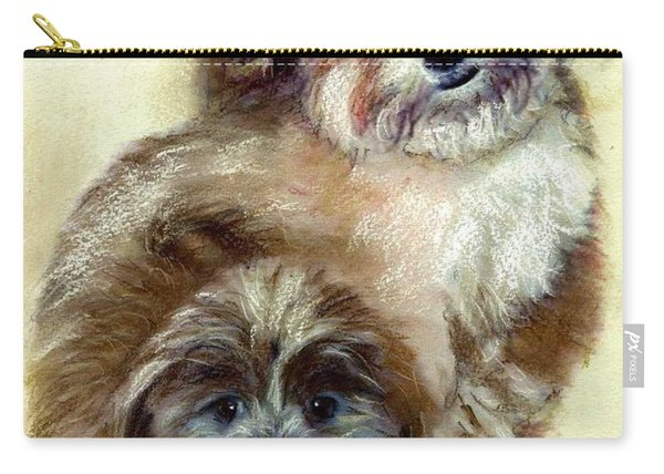 Carry-all Pouch featuring the painting Ruby by Ryn Shell