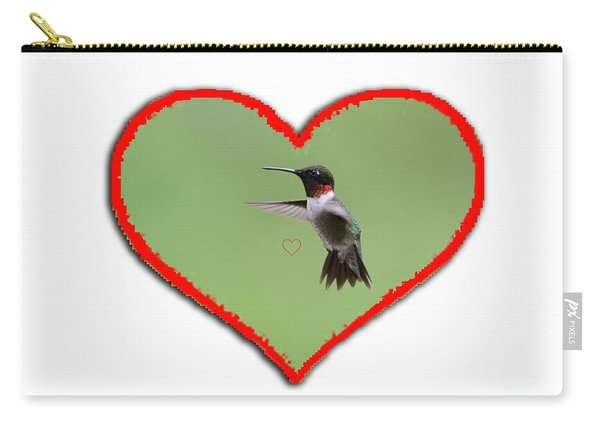 Ruby-throated Hummingbird In Heart Carry-all Pouch