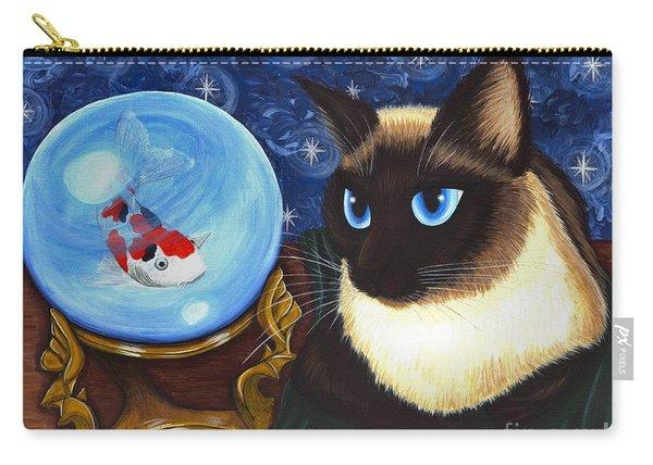 Rue Rue's Fortune - Siamese Cat Koi Carry-all Pouch