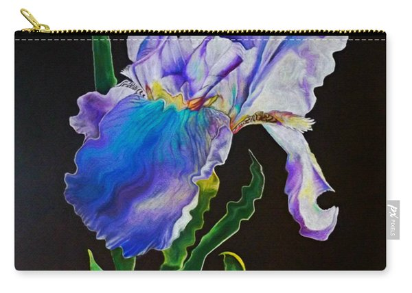 Ruffled Iris Carry-all Pouch