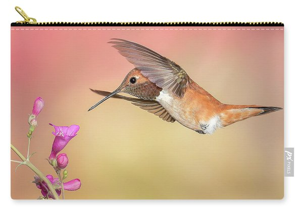 Rufous Hummingbird With Penstemon Carry-all Pouch