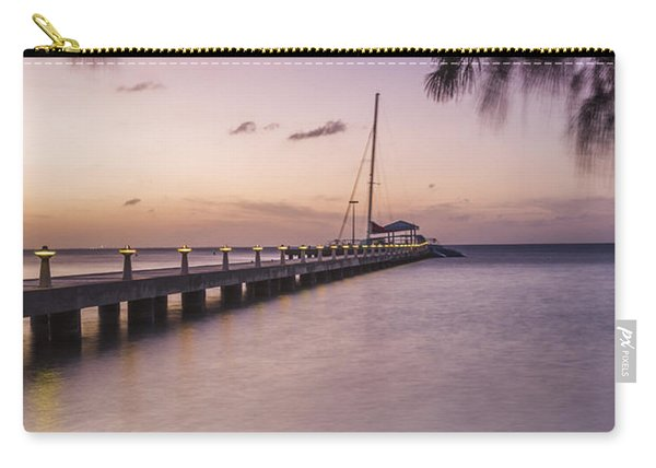 Rum Point Beach Chairs At Dusk Carry-all Pouch