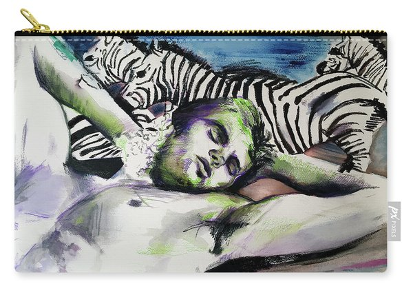 Runaway Zebra  Carry-all Pouch