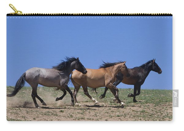 Running Free- Wild Horses Carry-all Pouch