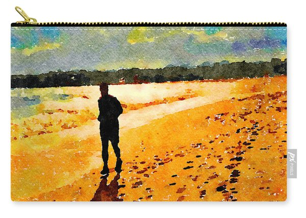 Running In The Golden Light Carry-all Pouch