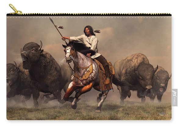 Running With Buffalo Carry-all Pouch