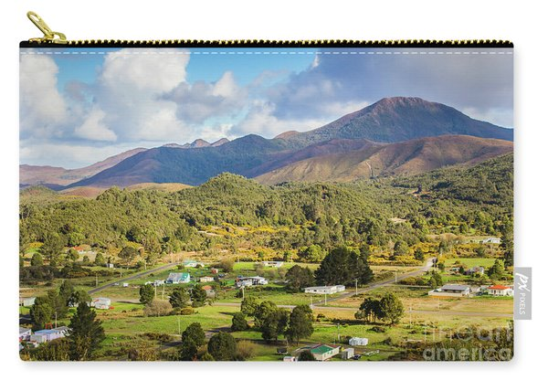 Rural Landscape With Mountains And Valley Village Carry-all Pouch