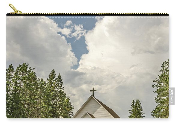 Rural White Church With A Cross Carry-all Pouch
