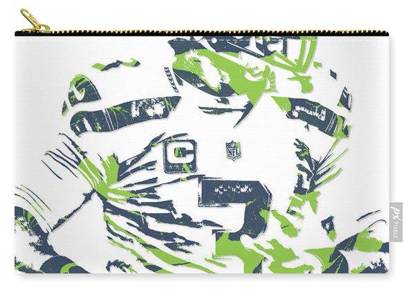 Russell Wilson Seattle Seahawks Pixel Art 10 Carry-all Pouch