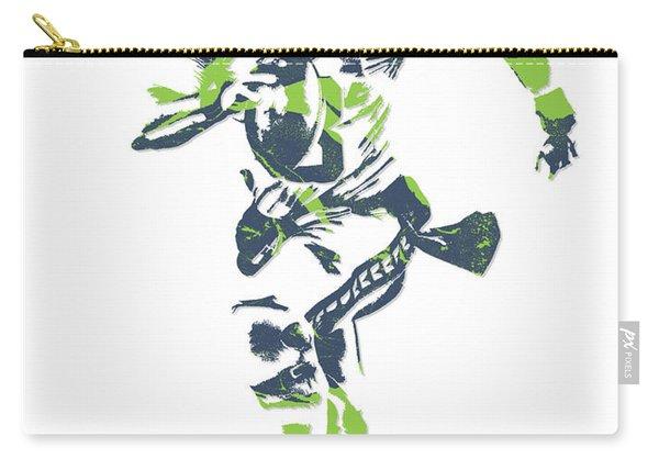 Russell Wilson Seattle Seahawks Pixel Art 14 Carry-all Pouch