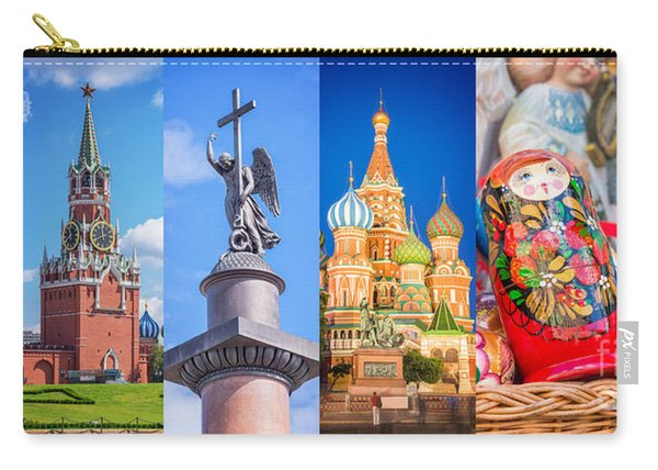 Russia Collage Carry-all Pouch