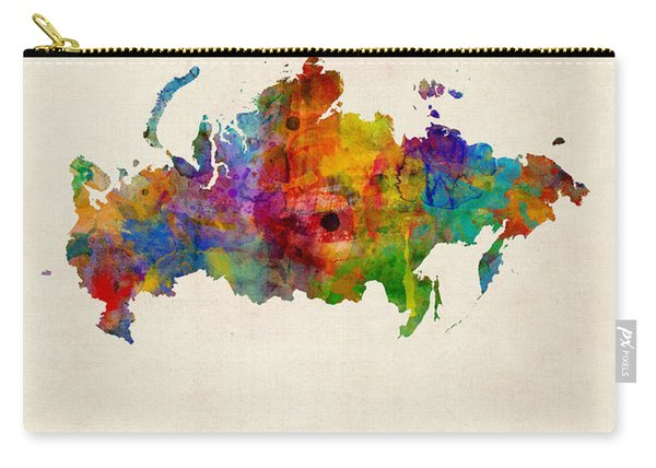 Russia Watercolor Map Carry-all Pouch