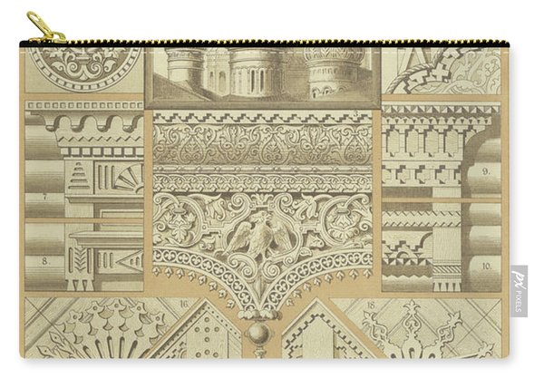 Russian, Architectural Ornaments And Wood Carvings Carry-all Pouch
