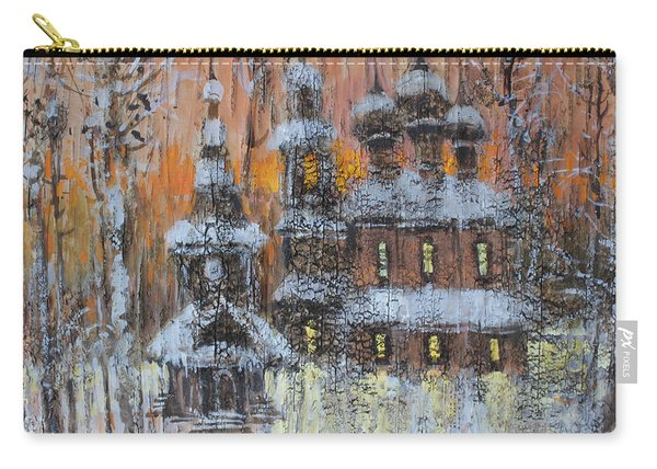 Russian Church Under Snow Carry-all Pouch