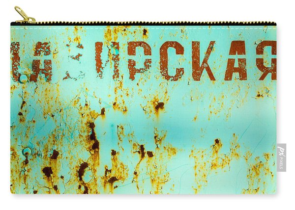 Rust On Metal Russian Letters Carry-all Pouch