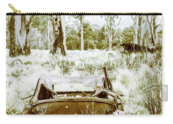 Rustic Australian Car Landscape Carry-all Pouch