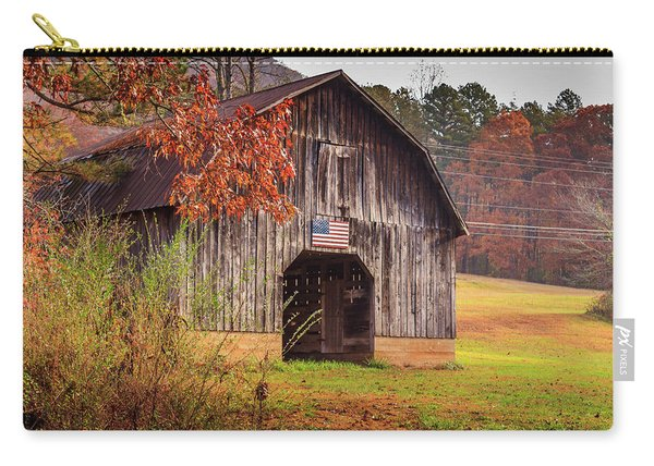 Rustic Barn In Autumn Carry-all Pouch