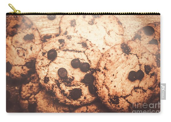 Rustic Chocolate Chip Cookie Snack Carry-all Pouch