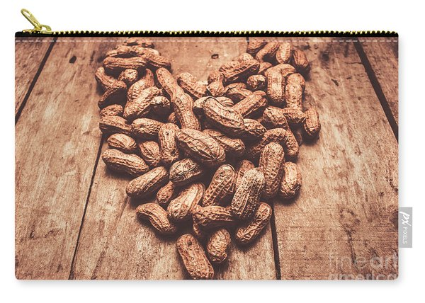 Rustic Country Peanut Heart. Natural Foods Carry-all Pouch