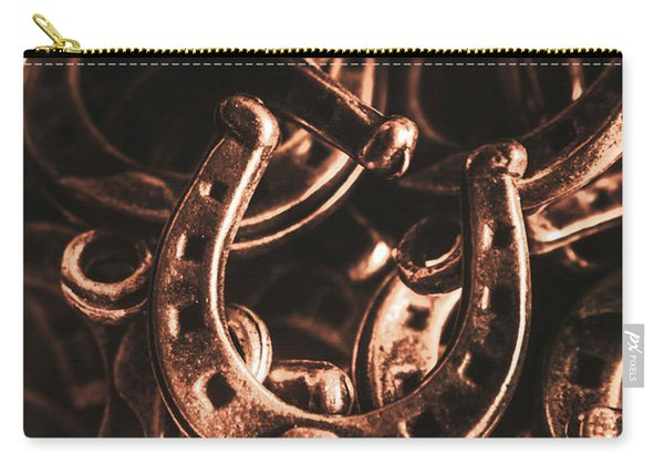 Rustic Horse Shoes Carry-all Pouch