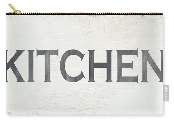 Rustic Kitchen Sign- Art By Linda Woods Carry-all Pouch