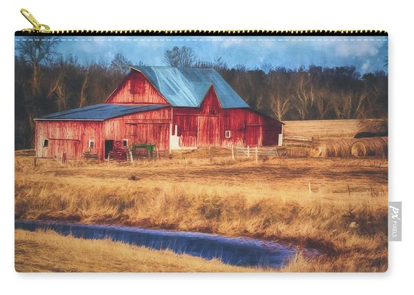 Rustic Red Barn Carry-all Pouch